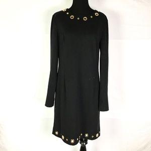 Michael Kors Womens Dress Long Sleeve Black Size 8